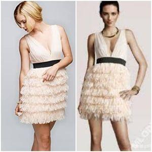 H&M Flirty Peachy Pink Fringe Dress, Size 10